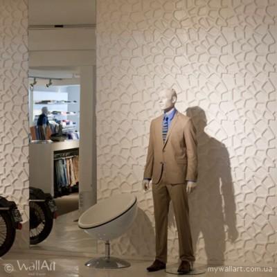 Дизайн інтер`єру магазина з 3d панелями WallArt