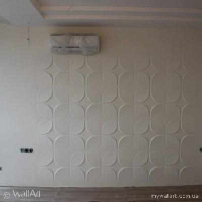 Квартира у Києві із оздобленням стін 3d панелями
