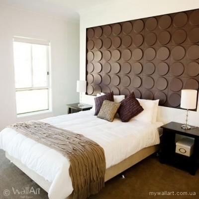 Квартира - спальня, їдальня, вітальна кімната з панелями для стін Wallart
